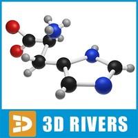 histidine molecule structure 3d 3ds